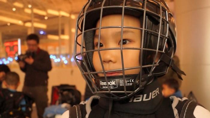 Junior Chinese ice hockey player