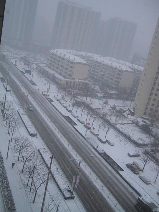snow from window